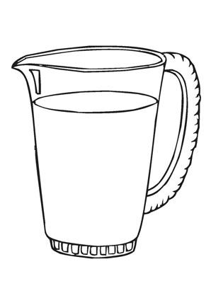 Ausmalbilder Glas Krug Speisen Und Essen Malvorlagen Ausmalen