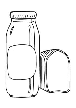 Ausmalbilder milch und brot - Speisen und Essen Malvorlagen ausmalen