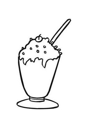 Ausmalbilder Milchkaffee.mit Sahne - Speisen und Essen ...
