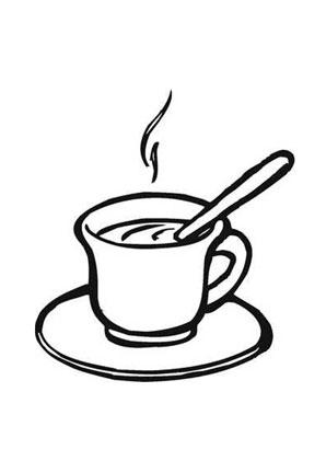 Tasse ausmalbild  Ausmalbilder tasse kaffee - Speisen und Essen Malvorlagen ausmalen