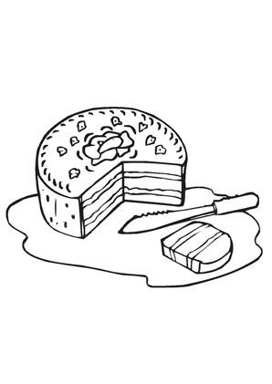 Ausmalbilder Torte Speisen Und Essen Malvorlagen Ausmalen