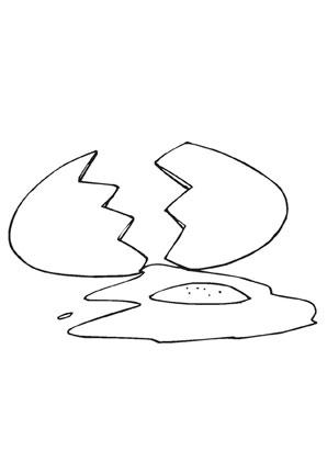 Ausmalbilder Zerbrochenes Ei Speisen Und Essen Malvorlagen Ausmalen