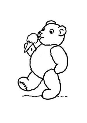 Ausmalbilder Bär Isst Eis Spielsachen Malvorlagen Ausmalen