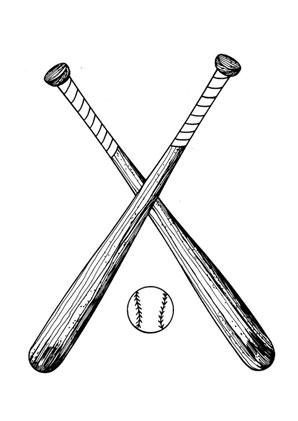 Ausmalbilder Baseball Schläger - Spielsachen Malvorlagen ausmalen
