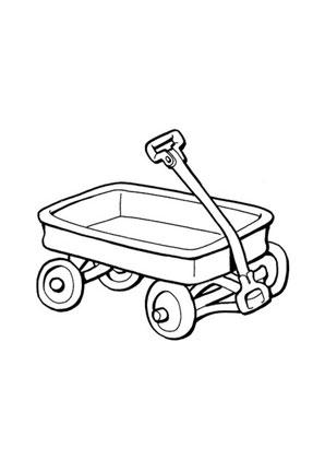 ausmalbilder bollerwagen - spielsachen malvorlagen ausmalen
