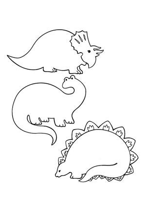 Ausmalbild Drei Dinosaurier Kostenlos Ausdrucken