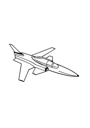 ausmalbild düsenflugzeug kostenlos ausdrucken