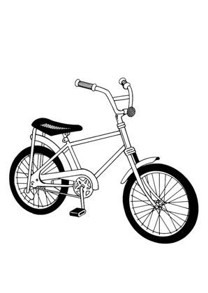 Ausmalbilder Fahrrad - Spielsachen Malvorlagen ausmalen
