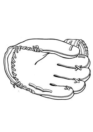 Ausmalbilder Football Handschuh - Spielsachen Malvorlagen ausmalen