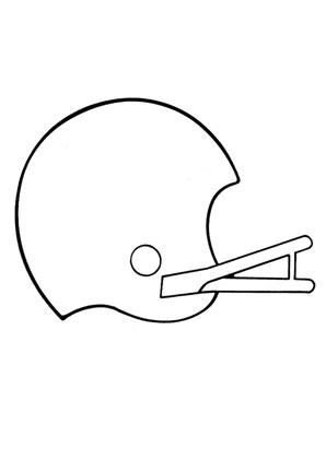 Ausmalbilder Football Helm - Spielsachen Malvorlagen ausmalen