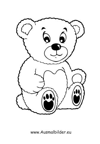 Ausmalbilder Plüsch Teddybär Spielsachen Malvorlagen Ausmalen