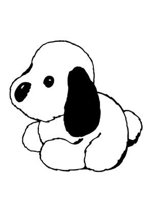 Ausmalbild plüschhund kostenlos ausdrucken