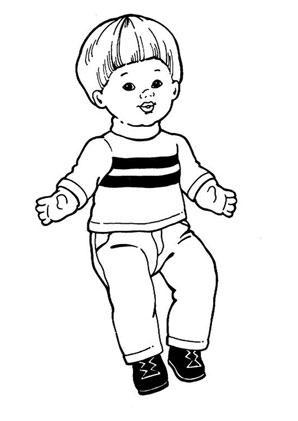 Ausmalbilder Puppe Junge - Spielsachen Malvorlagen ausmalen