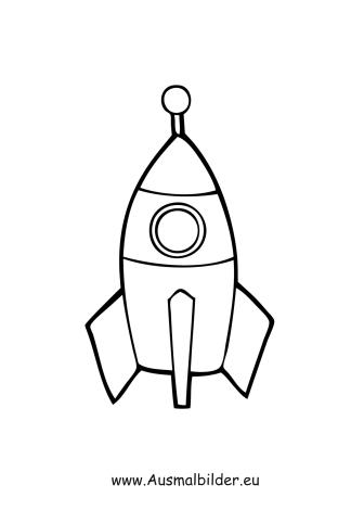 Ausmalbild Rakete Kostenlos Ausdrucken
