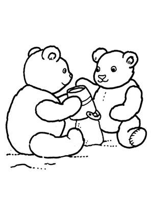Ausmalbilder Teddy Im Sandkasten Spielsachen Malvorlagen