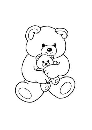 Ausmalbilder Teddy Mit Babybär Spielsachen Malvorlagen