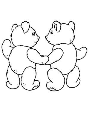 ausmalbild zwei teddybären kostenlos ausdrucken