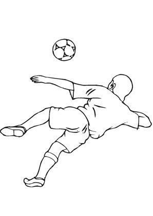jesus playing sports coloring pages | Ausmalbilder Fussball - Fussball Malvorlagen