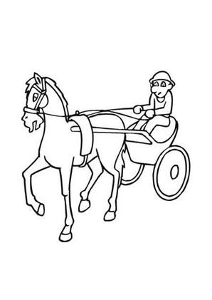Ausmalbilder Pferderennen - Pferderennen Malvorlagen