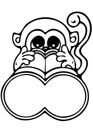 Ausmalbilder Affe Mit Fernglas Affen Malvorlagen