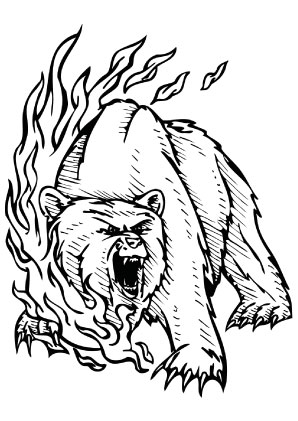 Ausmalbilder Bär im Blutrausch - Bären Malvorlagen