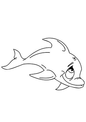 ausmalbild delphin 1 zum ausdrucken