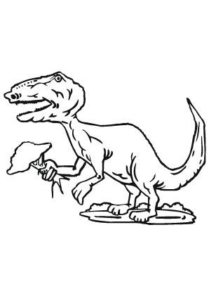 ausmalbilder agressiver t rex - dinosaurier malvorlagen