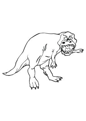 Ausmalbilder Brüllender T Rex Dinosaurier Malvorlagen