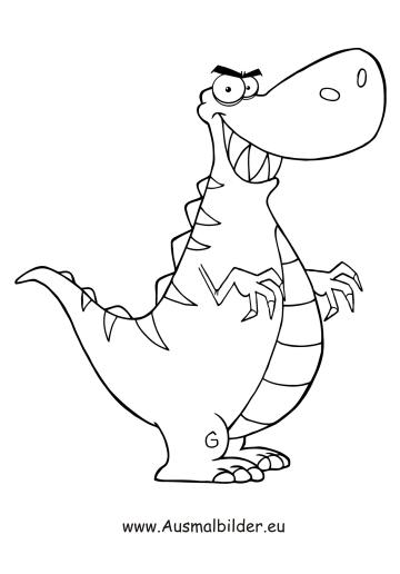 Ausmalbilder Dino Dinosaurier Malvorlagen