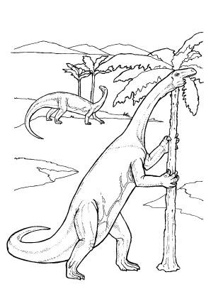 ausmalbilder dinosaurier frisst palmenblätter