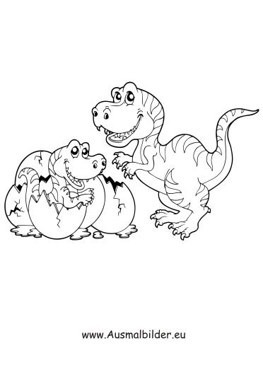 Ausmalbild Dinosaurier Im Ei Zum Ausdrucken