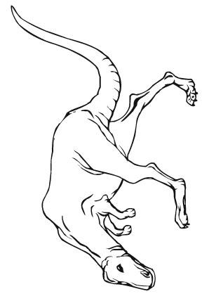 Ausmalbilder Geduckter T Rex - Dinosaurier Malvorlagen