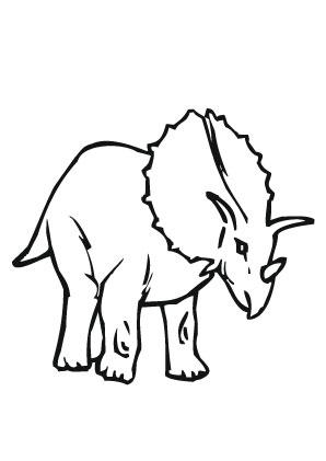 ausmalbilder gieriger triceratops - dinosaurier malvorlagen