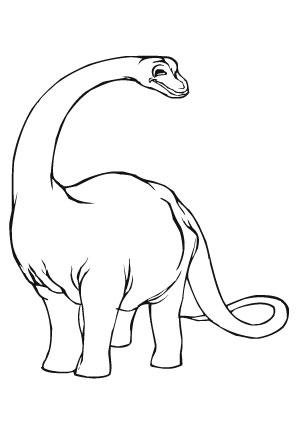 ausmalbild kleiner apatosaurus zum ausdrucken