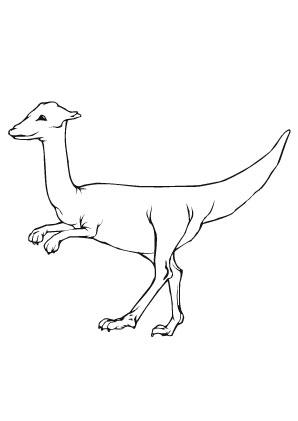 ausmalbilder schneller dino - dinosaurier malvorlagen