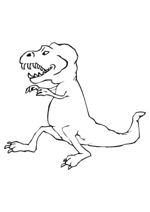 Ausmalbilder Sitzender T Rex - Dinosaurier Malvorlagen