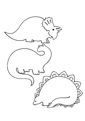 ausmalbilder viele dinos - dinosaurier malvorlagen