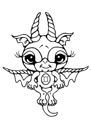 Kleurplaat Dragon City Ausmalbilder Baby Drache 1 Drachen