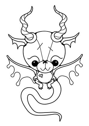 ausmalbilder baby drache 2 - drachen malvorlagen