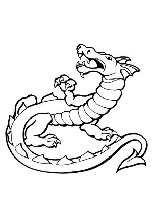 Ausmalbilder Brüllender Drache Drachen Malvorlagen