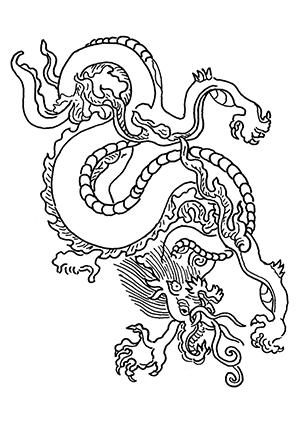 Ausmalbilder Chinesischer Drache Drachen Malvorlagen