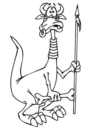 ausmalbild drache mit stammesschmuck zum ausdrucken