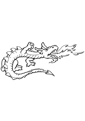Ausmalbilder Drache Speiht Feür Drachen Malvorlagen