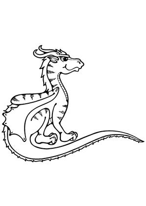 ausmalbilder junger drache 1 - drachen malvorlagen