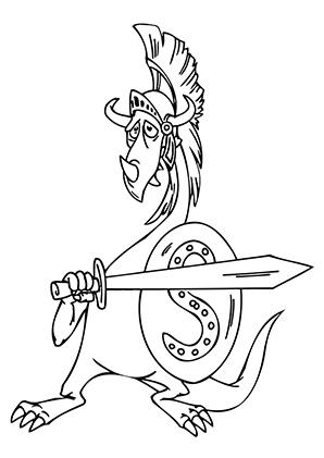 Ausmalbilder Römischer Drache Drachen Malvorlagen