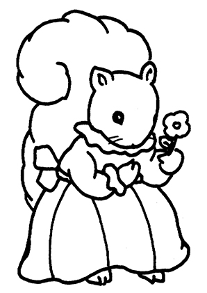 Ausmalbilder Eichhörnchen Mit Blume Eichhörnchen Malvorlagen