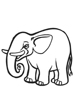 Ausmalbilder Baby Elefant Zum Ausmalen Elefanten Malvorlagen
