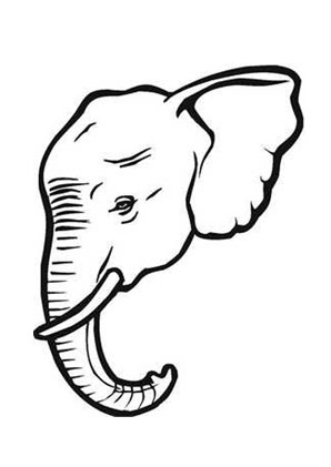 Malvorlagen Elefantenkopf   My blog