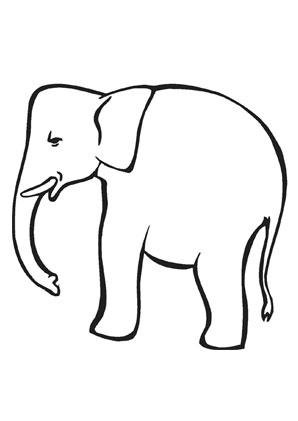 ausmalbilder kleiner elefant zum ausmalen - elefanten