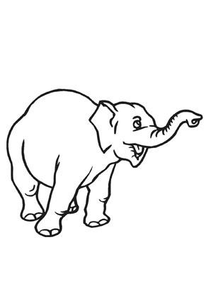 ausmalbild trötender elefant kostenlos ausdrucken